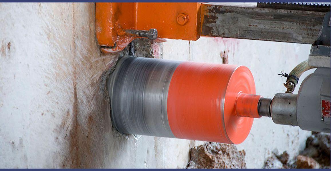 Сверление технологических отверстий в бетоне, асфальте, камне